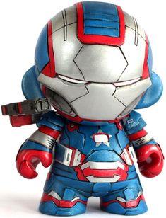 'Iron Patriot Munny' by Michal Miszta for Munnyworld 2013. #ironman3