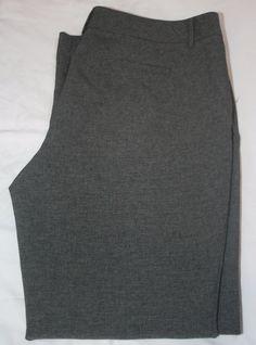 New York & Company 14 Gray Trousers Dress Pants Zipper Latch Fasten…