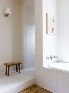 Clean white modern bath