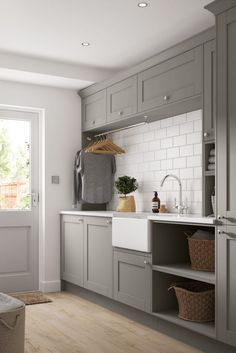 23 Chic Utility Room, Scullery and Laundry Room Ideas – Laundry Room İdeas 2020 Modern Laundry Rooms, Laundry Room Layouts, Laundry Room Remodel, Laundry Room Storage, Laundry Room Floors, Storage Room Ideas, Laundry Room Cabinets, Laundry Closet, Small Laundry