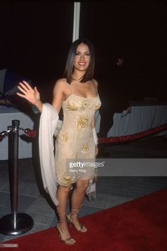 Actress Salma Hayek attends the premiere of the film 'Double Jeopardy' September 21, 1999 in Los Angeles, CA. Hayek acted in a number of films including 'Wild Wild West' in 1999 and 'Fools Rush In' in 1997.