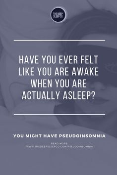 Have you ever thought you didn't get a wink of sleep the night before, only to be told by your partner, family member or doctor that you were asleep during the night? Have you ever thought you were awake and then actually woken up? If so, you may be a pseudoinsomniac! Read our article to find out about what pseudoinsomnia is and what you can do about it. #pseudoinsomnia #insomnia What You Can Do, How To Find Out, Sleep Medicine, American Psychological Association, Sleep Studies, Natural Sleep Remedies, Information Processing, Trying To Sleep, Central Nervous System