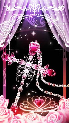 Pink cross and jewels Cross Wallpaper, Bling Wallpaper, Emoji Wallpaper, Heart Wallpaper, Butterfly Wallpaper, Butterfly Art, Cellphone Wallpaper, Galaxy Wallpaper, Wallpaper Backgrounds