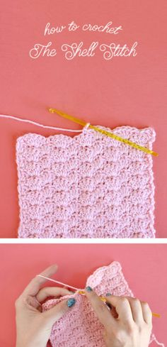 how to crochet the shell stitch - this is a great stitch with rich texture and a pretty scalloped shape. It's easy to do and perfect for scarves, blankets, and washcloths