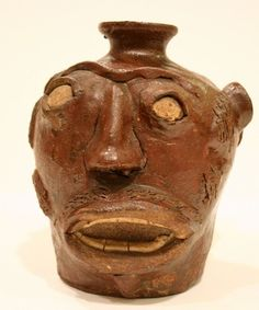 Photo courtesy of the South Carolina State Museum Face jugs like this one will be on exhibit at the South Carolina State Museum.