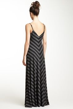V-Neck Striped Maxi Dress Don't usually like these but this is pretty