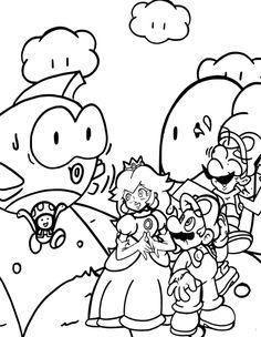 Yoshi Kleurplaten Printen.77 Beste Afbeeldingen Van Mario Kleurplaat Mario