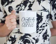 Creativity After Coffee Hand Lettered Mug
