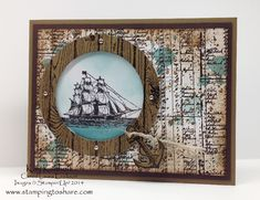Open Sea Through a Porthole by Kay Kalthoff - Cards and Paper Crafts at Splitcoaststampers