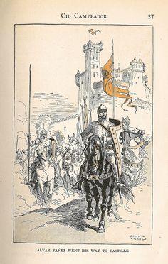 Inspiration for Rafael's story of El Cid (Rodrigo Díaz de Vivar) in The Warrior's Prize, book 4 of the True Love Brides series of #medieval #Scottish romances by #ClaireDelacroix #Ravensmuir