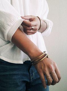 Double Brass Bracelet | @andwhatelse