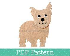Yorkie Dog Applique Template, Yorkshire Terrier Applique, PDF Pattern. $2.30 to download - so cute!
