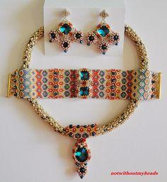 Not without my beads – Nicht ohne meine Perlen: Gänseblümchen und Sechsecke / Daisies and Hexagons