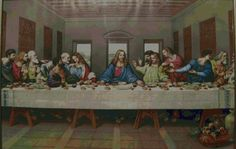 The last supper, very large chart. Free cross stitch. link under picture.