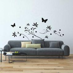 Naklejki na ściany do salonu, które poprawią wygląd Twojego mieszkania