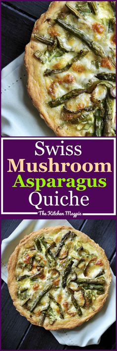 Delicious home made Swiss Mushroom Asparagus Quiche for brunch is always a good idea! Delicious home made Swiss Mushroom Asparagus Quiche for brunch is always a good idea! Vegetarian Brunch Recipes, Healthy Brunch, Breakfast Recipes, Dinner Recipes, Healthy Recipes, Dinner Ideas, Breakfast Healthy, Delicious Recipes, Asparagus Quiche