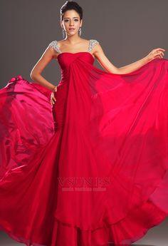 Vestido+de+noche+Corte+Sirena+Invierno+Plisado+Gasa+Cola+Capilla+Tallas+pequeñas