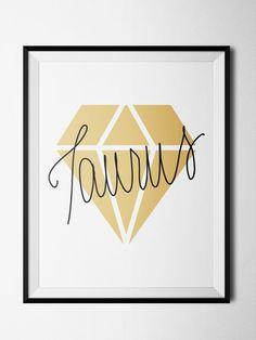 Taurus Diamond Print