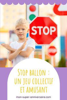 Découvre le jeu Stop ballon pour organiser de belles parties collectives lors d'un goûter d'anniversaire par exemple ! Organiser, Ballon, Gaming Rules, Three Kids, Birthday, Handball