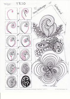 Zentangle® Pattern Trio by Zenjoy Schweiz