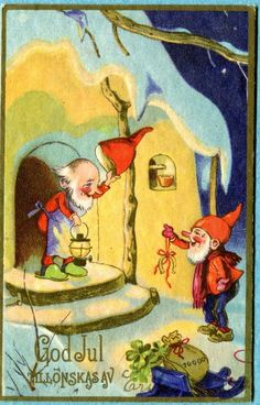Fritz Baumgarten God Jul card