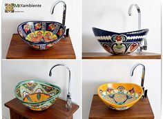 Mexikanische ovale Aufsatzwaschbecken von Mexambiente MEX 7