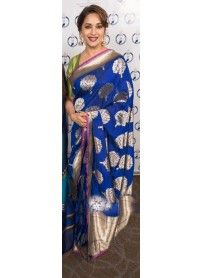 Latest Designer Blue Saree By Kmozi..  http://www.kmozi.com/bollywood-replica/bollywood-saree/latest-designer-blue-saree-by-kmozi-787