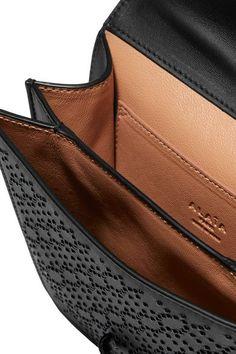 Alaïa - Arabesque Mini Embellished Textured-leather Shoulder Bag - Black - one size