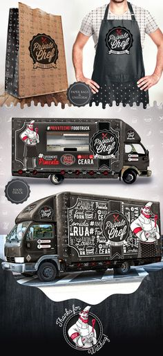 Owned by the same developers of the Crazy Peppers pepper sauce line, Private Chef Food Truck aims to Food Trucks, Kombi Food Truck, Pizza Truck, Food Gifts For Men, Diy Food Gifts, Food Truck Design, Food Design, Hy Citroen, Foodtrucks Ideas