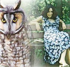 Owl Spirit BELLA DONNA digital art - Hogwarts School (Owl Art)