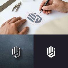 How to create a logo - step by step Corporate Design, Branding Design, Corporate Branding, Logo Branding, Brand Identity, Initials Logo, Monogram Logo, Photography Logo Design, Photography Packaging