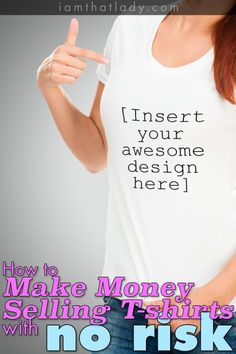Have some cool ideas for tshirts? You can easily make money online designing and selling your own tshirts with no risk!