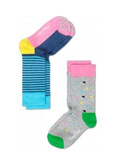 2-Pack Half Stripe Sock