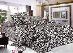 Biely prehoz so zebrovým vzorom