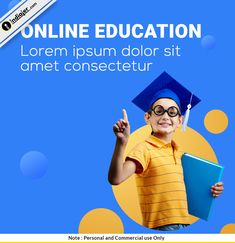 Free Online Education Social Media PSD Design Template Social Media Poster, Social Media Banner, Social Media Design, Education Banner, Kids Education, Kids Graphic Design, Marketing Poster, Diy Projects For Bedroom, Fashion Banner