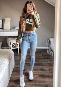 trendy outfits for women \ trendy outfits ; trendy outfits for summer ; trendy outfits for school ; trendy outfits for women ; Cute Teen Outfits, Stylish Outfits, Teenager Outfits, Trendy Outfits For Teens, White Girl Outfits, Cute Outfits With Nikes, Outfits With Skinny Jeans, Cute Outfits With Sweatpants, Outfits With Jordans