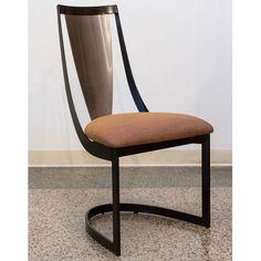 Pair of ELITE MODERN Lana Metal Dining Chairs