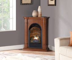 Duluth Forge Dual Fuel Ventless Fireplace Insert - 15,000 BTU, T ...