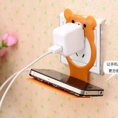 Find More Holders & Stands Information about 2014 New Fashion Foldable Wall Charger Adapter Universal Mobile Phone Companion Holder Cartoon Bear Charging Stand C14,High Quality phone case stand,China phone k750i Suppliers, Cheap phone protect from 5D Special Super Market on Aliexpress.com