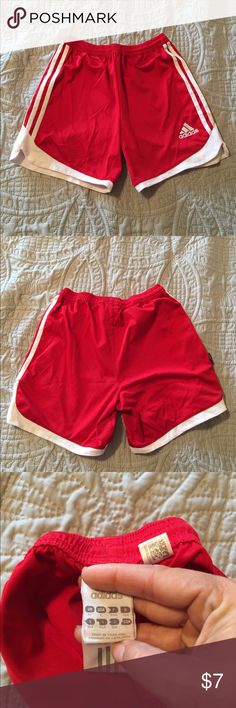 Boys children's Adidas red athletic shorts size L Young boys children's athletic shorts adidas size L, see tag adidas Bottoms Shorts