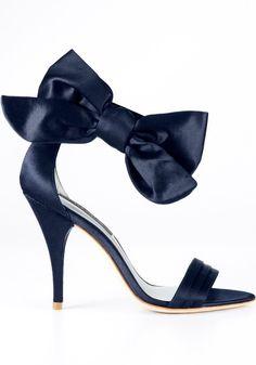 Navy Bow Heels