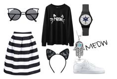 """""""Meow Jew"""" by ninamkt on Polyvore featuring moda, Maison Close, NIKE e Bling Jewelry"""