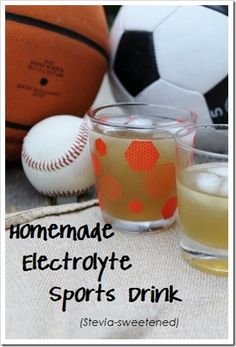Replace gatorade with something that is really good for you with this Homemade Electrolyte Sports Drink {Honey & Stevia-Sweetened} recipe.  Via:: Kitchen Stewardship
