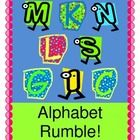 """ALPHABET RUMBLE!  LETTERS IN A JUMBLE!""  Wake up your Circle Time with an ALPHABET RHYME that rocks!  Use this fun Group Game to introduce a new letter sound or to review letter sounds you've already learned.  Need some Letter Cards to hold up during the game?  Both color and black-line letter templates are provided here.  Hand out clappers or shakers-- your kids will be dancing to the beat of the letters that they're learning!  ""Making some NOISE, with my girls and boys!""  (11 pages)  $"
