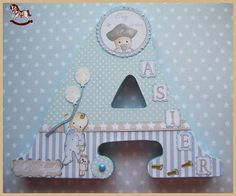 """Mis pijadikas: """"A""""sier. Wooden Letter Crafts, Frame Crafts, Wooden Letters, Stylish Alphabets, Letters For Kids, Mixed Media Scrapbooking, Baby Shawer, Baby Album, Vinyl Cutting"""