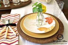 Early Fall Tablescape combing bargain finds with treasured heirlooms.