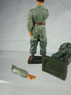 2x Lineol Duscha Wehrmacht Fallschirmjäger Figuren - 7cm Serie | eBay