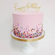 Pink sprinkles cake