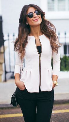 peplum jacket | office look