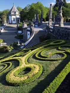Bom Jesus Basilica Gardens, City of Braga, Minho Region, Portugal Photographic Print by Duncan Maxwell at AllPosters.com